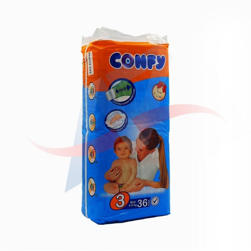 Couches bébé Confy taille 3