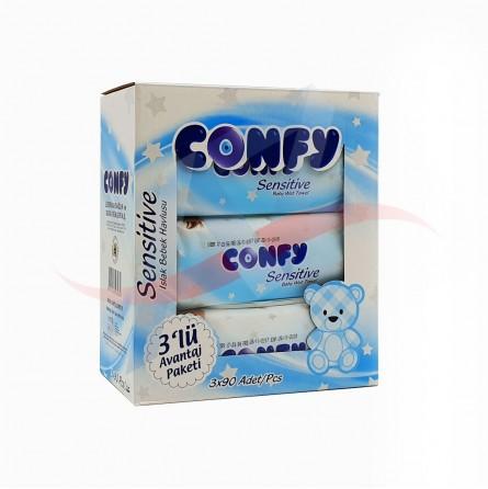 Lingettes bébé sensitive Confy x90