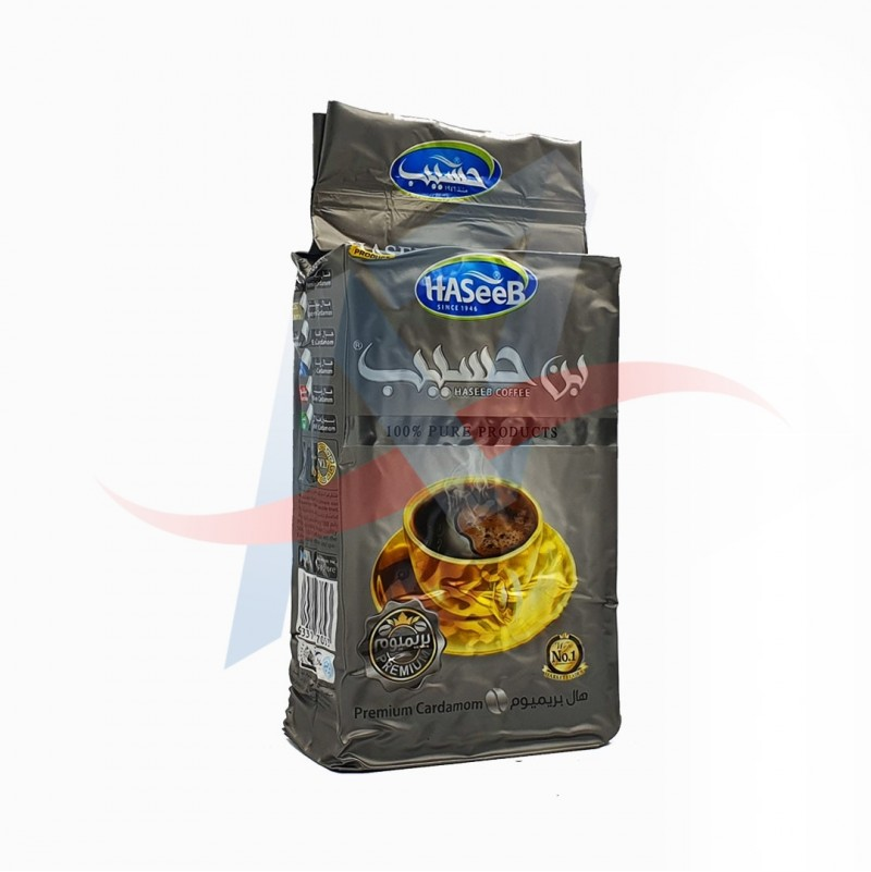 Café moulu à la cardamome Haseeb (silver) 500g